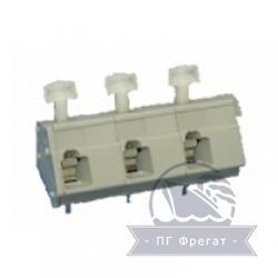 Клемма пружинная для печатного монтажа тройная КПП-0,5-3 ТУ фото 1
