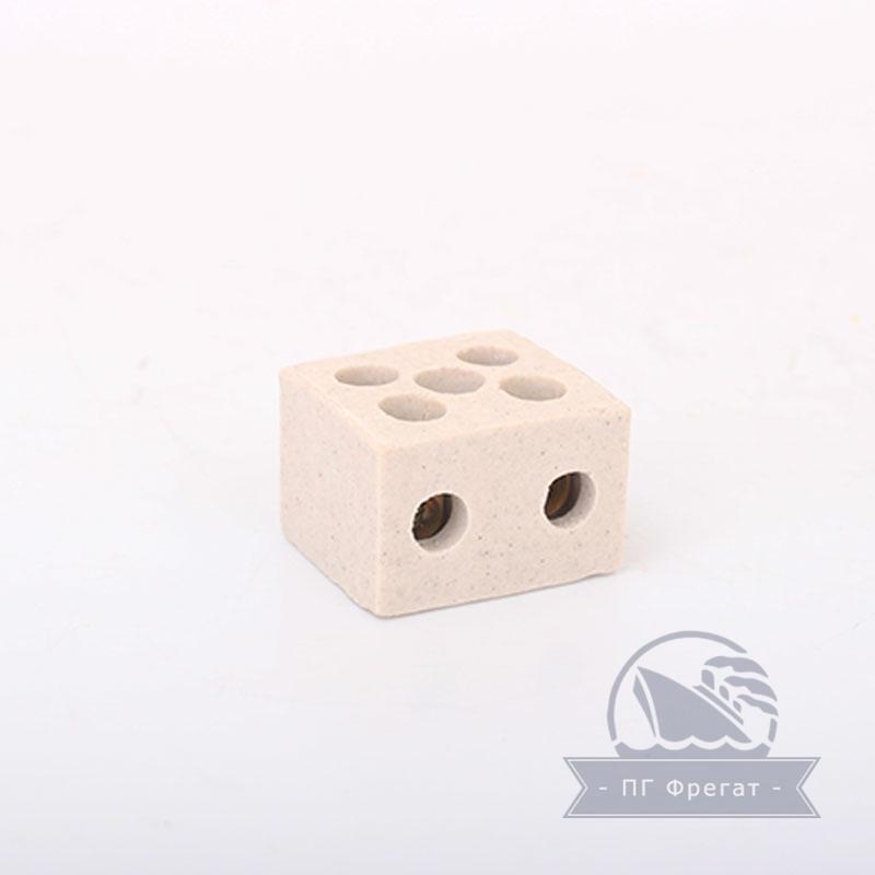 Керамические термостойкие клеммные колодки 2х2,5 фото №2
